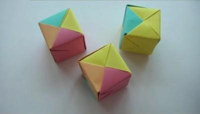 Оригами кубик видео