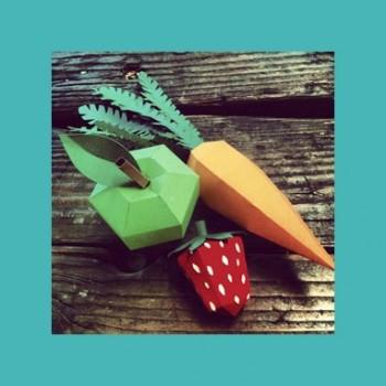 Оригами овощи и фрукты