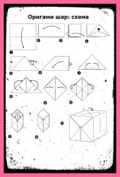 Оригами схемы Шара