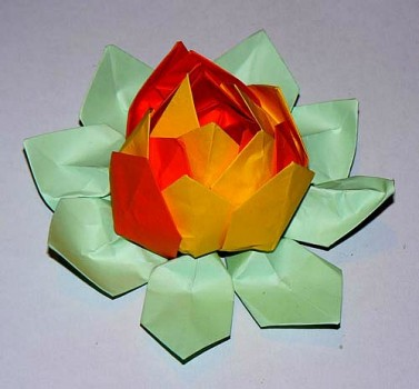Оригамицветок лилия мастер-класс