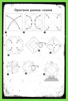 Рамка из бумаги схема