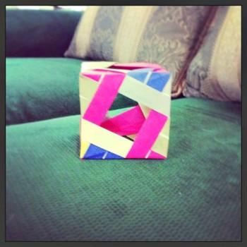 Шар оригами из бумаги