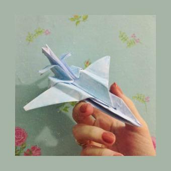 Самолетикиз бумаги оригами