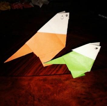 Сделать Птицу оригами