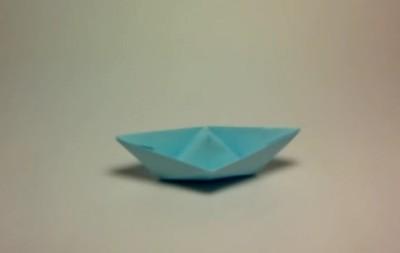 Сделать кораблик оригами