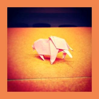 Слоник оригами