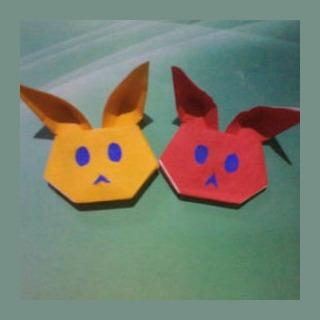 Зайчик из бумаги оригами