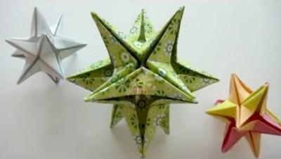 Звезда из бумаги оригами
