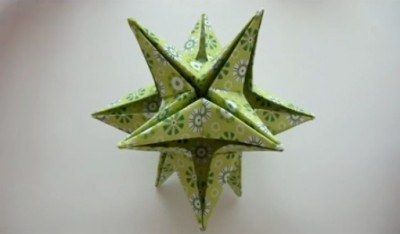 Звезда оригами видео