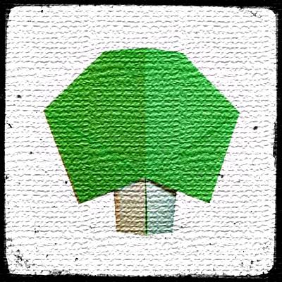 Дерево оригами