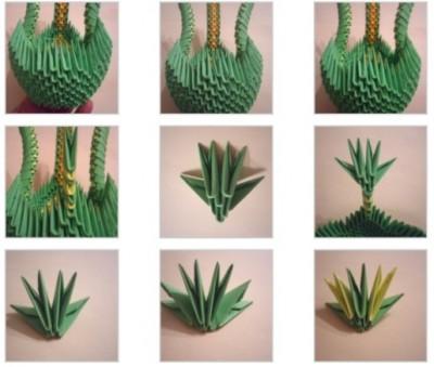 Как сделать оригами Драконасхема 6