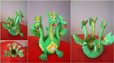 Как сделать оригами Дракона видео урок по сборке