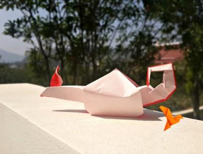 КрасивоеоригамиЛампа Алладина схема сборки