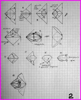 Модульное оригами Кусудамы Эна (Ena) за схемой Михаила Пузакова 2