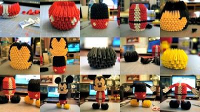 Модульное оригами Микки Маус