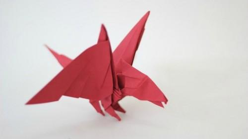 Оригами Драккончик Baby Dragon Tadashi Mori