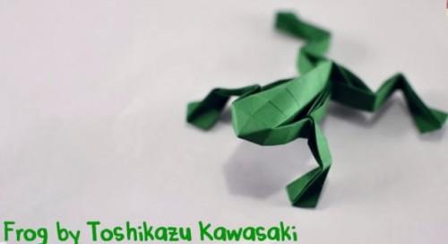 Оригами Лягушка видео