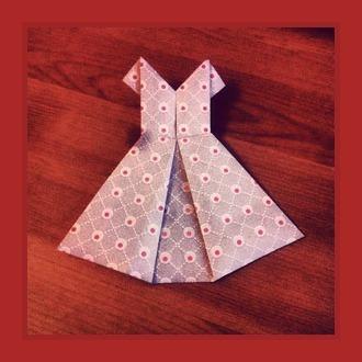 Оригами Платье из бумаги