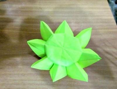 Оригами Подсолнух за схемой Nilva Fina Pillan