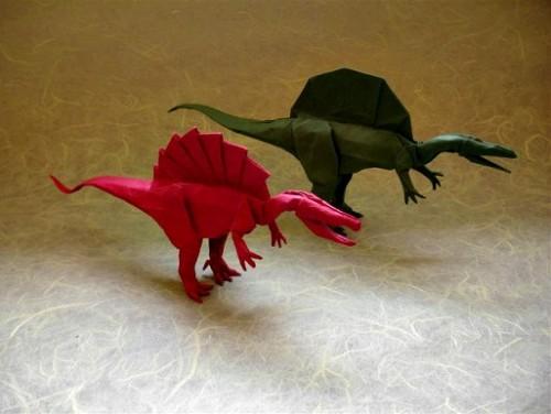Оригами Спинозавр от Shuki Kato