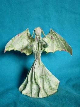 Оригами Женщина с крыльями видео урок