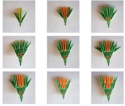 Оригами ЗмейГорынычсхема сборки 11