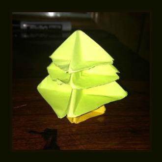 Оригами из бумаги Дерево