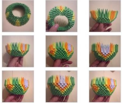 Оригами из бумагиДраконсхема2