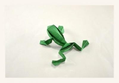 Оригами из бумаги Лягушка-попрыгушка