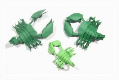 Оригами из бумаги Скорпион