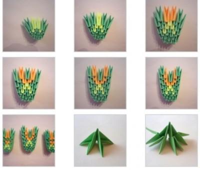 Оригами из бумаги схемы Дракона 8
