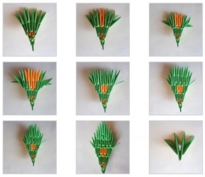 Оригами из модулей ЗмейГорынычсхема 10
