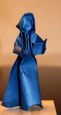 Оригами певица от Петера Штайна (Peter Stein)
