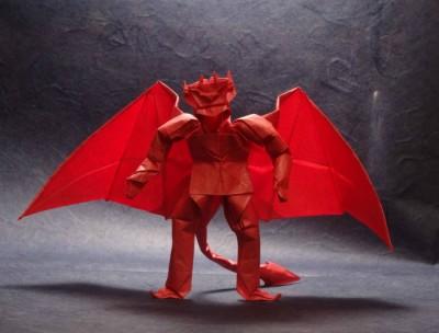 Оригами страшные Демон с крыльями