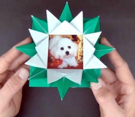 Оригами трансформер коробочка рамка от Jeremy Shafer