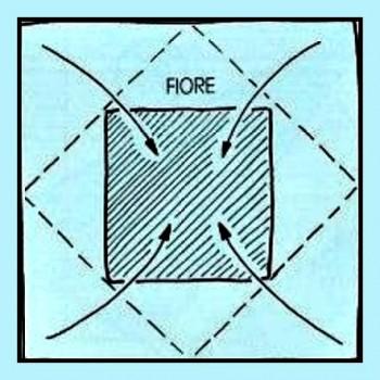 Схема Подсолнуха оригами за схемой Nilva Fina Pillan
