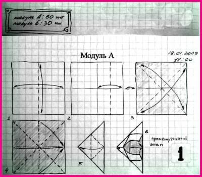 Схемы оригами Кусудамы Эна (Ena) от Михаила Пузакова 1