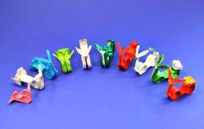 Скутер из бумаги оригами
